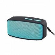 Akshar Bluetooth Speaker Portable Wireless Bass Stereo USB Fm Tf Outdoor Mini Aux Mp3 (Blue)