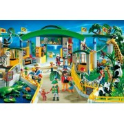 Playmobil At Zoo the 60 Piece jigsaw Puzzle with Play Figure