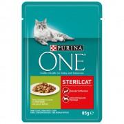 12х85г Sterilised Purina One, консервирана храна за котки - със сьомга и моркови