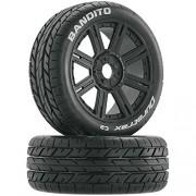 Duratrax Bandito Buggy Tire C2 Mounted Spoke 2 R/C Car Parts, Black