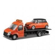 Camion transportor cu macheta auto Mini Cooper S