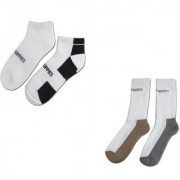 Combo Set of 4 pairs Sports ankle length cotton towel socks pack of 2 pairs Of 4 socks For Unisex