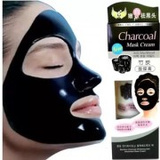 Bamboo Charcoal Purifying Cleansing Black Peel Off Mask Anti-Blackhead Suction Mask Cream