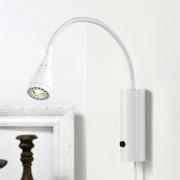 Nordlux Lámpara de pared LED Mento, brazo flexible, blanco