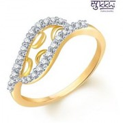Sukkhi Gold and Rodium Plated CZ Studded Ring