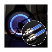 2 PCS Del Neumático De Coche / Moto Con Bateria Para Lámpara / Bicicleta (luz Azul)