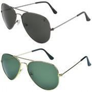Zyaden Combo of Aviator Sunglasses (Combo-92)