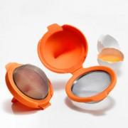 Eier-Pochierer, 2er-Set, orange, Lékué