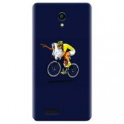 Husa silicon pentru Allview P6 Life ET Riding Bike Funny Illustration
