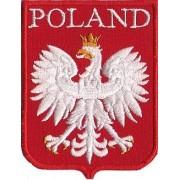 Naszywka na rzep - Godło, POLAND 54x72 mm