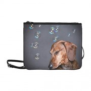 YSWPNA Los perros juegan con las burbujas de jabón al aire libre en verano Patrón Personalizado Nylon de alto grado Bolso delgado de embrague Bolso cruzado Bolso bandolera