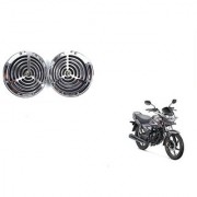 KunjZone Roots Megasonic Chrome Horn Set Of 2 For Honda CB Shine Self-Drum