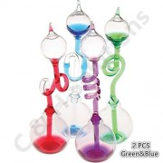Colorful Office Thinking Hand Boiler, Glass Science Energy Transfer, Children Science Experiment, Love Birds Color Meter Hand Boiler (Green) By C&H