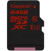 Card de memorie Kingston microSDXC U3 UHS-1 64GB (Class 10)