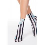 Türkiz zokni finom tapintású anyagból nyomtatott mintával