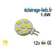 Ampoule led G4 6 led SMD 5050 blanc chaud 12v ref g4-08