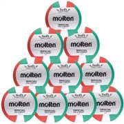 molten Volleyballpaket (10 Stück) V5PC (weiß/grün/rot) - 5