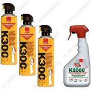 Pachet - Sano K300+ , insecticid spray universal, otrava gandaci, plosnite, purici, muste, tantari, molii, omizi, greieri ( echivalent Regent ) 3 x 400ml + Sano k2000, Insecticid inodor, 750ml