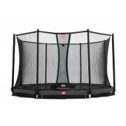 Studsmatta BERG InGround Favorit Grey 380 + skyddsnät Comfort