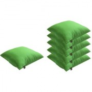 Lushomes Bright and Fluffy Green Cushions (Size 12x12 6 pcs.)