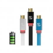 flatOUT LED cablu micro USB reversibil EZTIP™ (Alb, 2m)