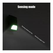 Luz Solar Infrarroja Forma De Tubo De Bambú Sensor De Movimiento Control+Luz Lámpara De Pared