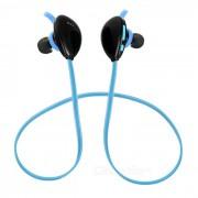 X13 en la oreja Bluetooth V4.1 auriculares deportivos con microfono. - Negro + Azul