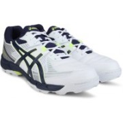 Asics �Asics Gel-Peake 4 Men Cricket shoes For Men(Blue, Silver, White)