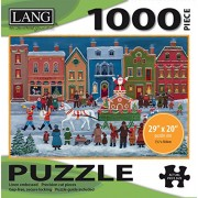 "Lang - 1000 Piece Puzzle -""Christmas Parade "", Artwork by Mary Singleton - Linen Finish - 29"" x 20"" Completed"