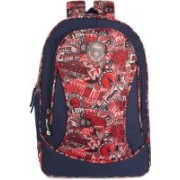 Classic Polyester School Bag |Shoulder Backpacks | Casual Bag for Girls & Boys 27 L Laptop Backpack(Red)