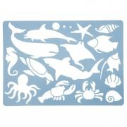 Nature Plush Planet Tekensjablonen oceaan dieren