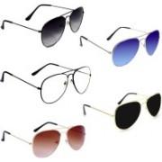 Aoking Aviator Sunglasses(Black, Grey, Brown, Blue, Clear)
