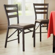 2 Pack Folding Dining Chairs by Coopers of Stortford