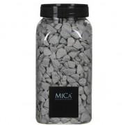 Mica Decorations Decoratie/hobby stenen grijs 1 kg