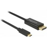 Cablu Delock 85256 USB Type-C - DisplayPort, 2.0m (Negru)