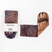 Mr. Gugu & Miss Go Gorilla Paw Unisex Midi Socks SOM1286