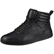 Puma Men's Black Puma Rebound Street v2 Sneakers