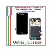 Sostituzione Display Samsung Galaxy S2 Plus I9105 I9105P Lcd Vetro Schermo Rotto Riparazione Cambio Assemblaggio GT-I9105