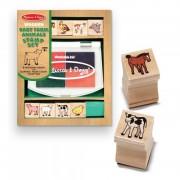 Set de stampile Pui de animale domestice Melissa Doug