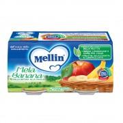 Mellin Omogeneizzati di frutta - Mela Banana - Confezione da 200 g ℮ (2 vasetti x 100 g)