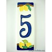 Numero civico ceramica con limoni nl5