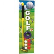 SHRIBOSSJI Colorful Golf Set With 3 Golf Ball 1 Golf Stick 1 Hole 3 Ball Holder Golf Kit