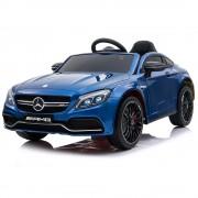 Masinuta electrica cu roti din cauciuc si deschidere usi Mercedes Benz C63s Blue