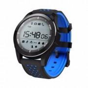 Ceas smartwatch TechONE F3 Sport autonomie 12 luni rezistent la apa notificari apeluri sms barometru altitudine negru