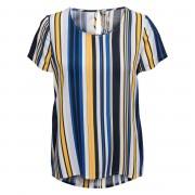 Only Shirt - Damen - weiß/marine/gelb/gestreift in Größe 36