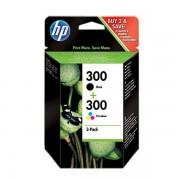 HP Original Bläckpatron HP Multipack 300 Svart Trefärgad