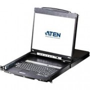 Aten Switch KVM USB-PS2 VGA 16 Porte LCD 19'' e Porta USB Dual Rail, CL5816N