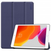 ENKAY Smart Leather Cover Shell with Tri-fold Stand Casing for iPad 10.2 (2019) - Dark Blue
