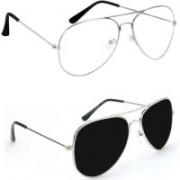 Sulit Aviator, Wayfarer, Cat-eye Sunglasses(Clear, Black)