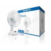 VALUELINE Ventilateur de table 23 cm 21 W Plastic Blanc